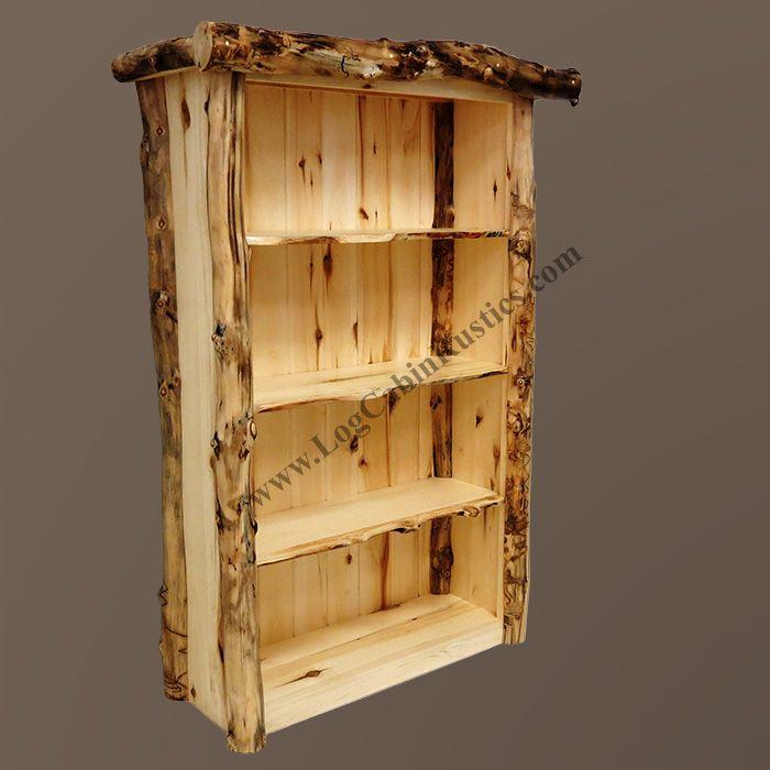 Grizzly Aspen Log Bookshelf