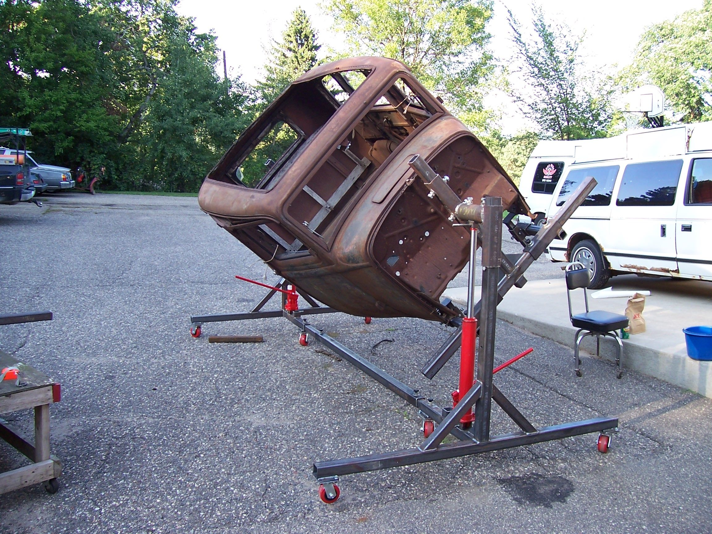 Auto rotisserie plans things to build pinterest for Garage auto fab ennery
