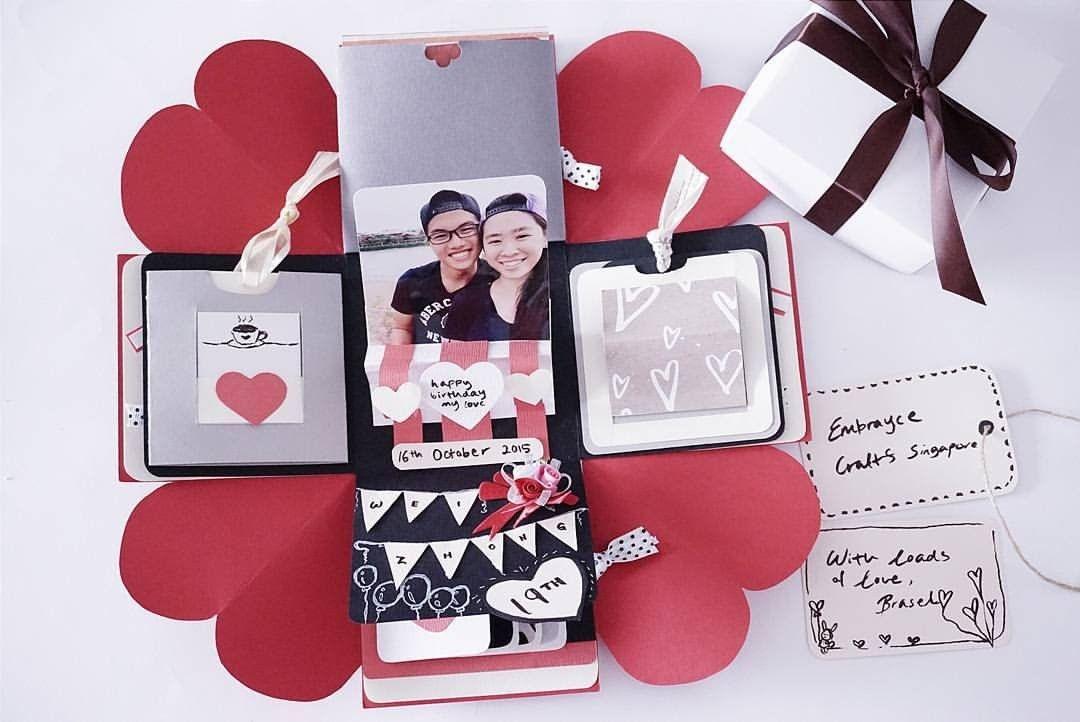 Diy Birthday Exploding Box Card Sweetheart Surprise Exploding Box Card Diy Exploding Box Diy Card Box