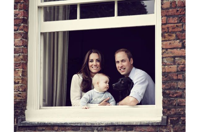 Prince William and Kate Middleton Release New Family Portrait - New Photo of Kate Middleton, Prince William and Prince George - Harper's BAZAAR Magazine