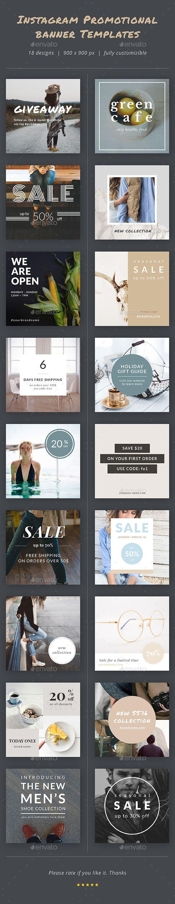 Instagram Promotional Banner Templates | Pinterest | Promotional ...