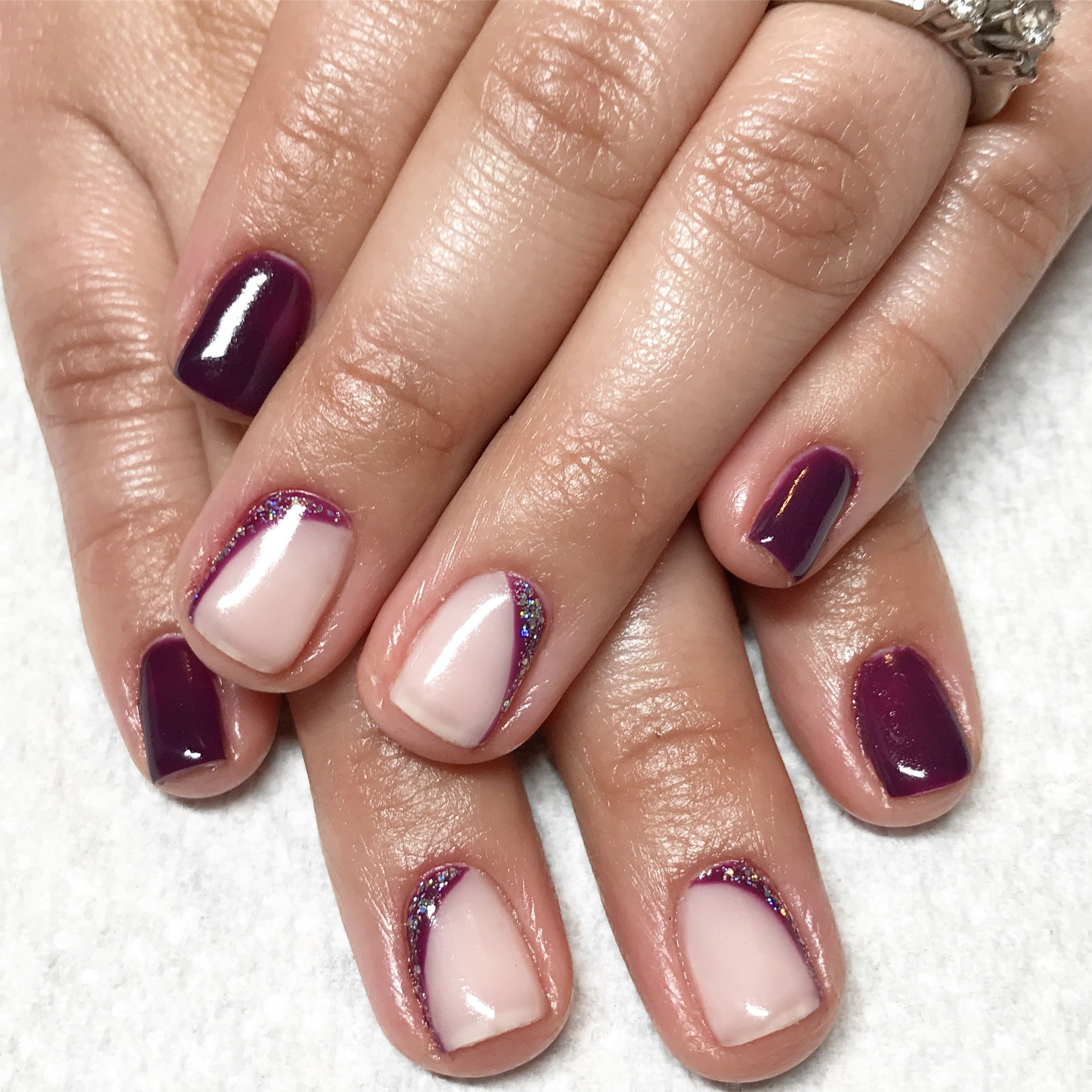 Purple nails. Gel nails. Fancy nails. Sparkle nails. | Nails I\'ve ...