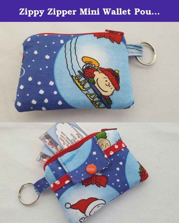 Zippy Zipper Mini Wallet Pouch Key Chain Fabric Card Holder Christmas Snoopy Peanuts Dog. My new zippy pouch mini wallets, card holders are great gifts for anytime of the year. ● Christmas Snoopy Peanuts Dog fabric for the outside. ● Front pocket on the outside. ● Interfaced for strength and durability. ● Plastic snap and a zipper for closure. They are the right size for many uses: * Key chain * Business Cards * Driver's License * Gift Cards * Debit & Credit Cards * Store Reward Cards…