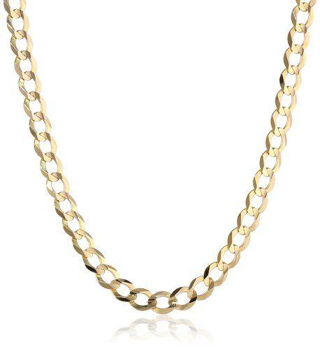 Men's 14k Yellow Gold 4.85mm Cuban Chain Necklace, 24