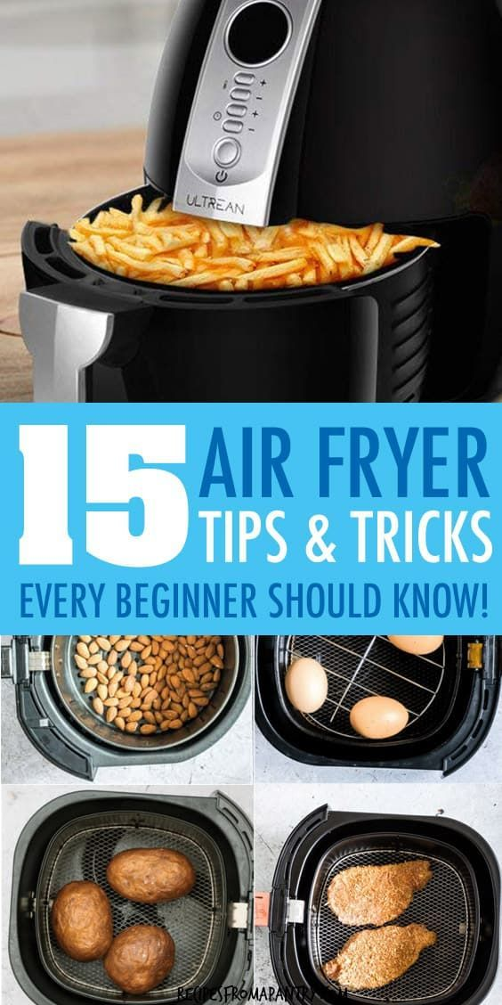 These 15 Top Air Fryer Tips make cooking delicious dishes in your Air Fryer easier, efficient and more fun! Whether you're new to the world of air frying or a seasoned pro, you'll want to keep these tips on hand for quick reference. Post also includes my favourite and most popular Air Fryer Recipes. Click through to get the super helpful air fryer tips! for beginners and seasoned pros! #airfryer #airfryertips #airfryerrecipes #airfriedfoods #kitchentips #kitchenhacks #airfried