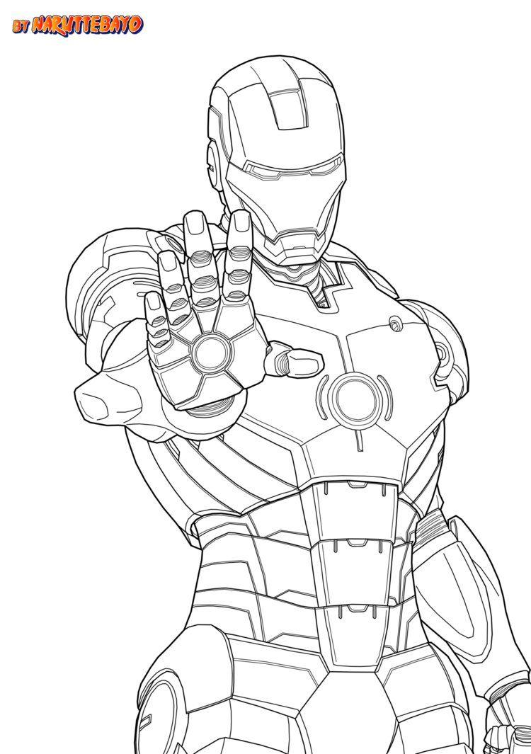 Ironman Marvel Japanime Lineart Noir By Naruttebayo67 Superhero