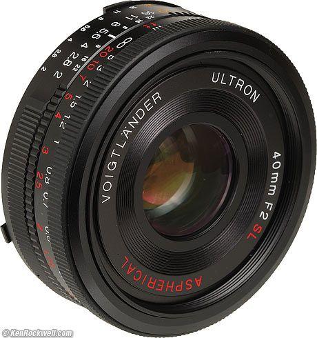Voigtlander 40mm F 2 Classic Camera Vintage Lenses Photo Gear