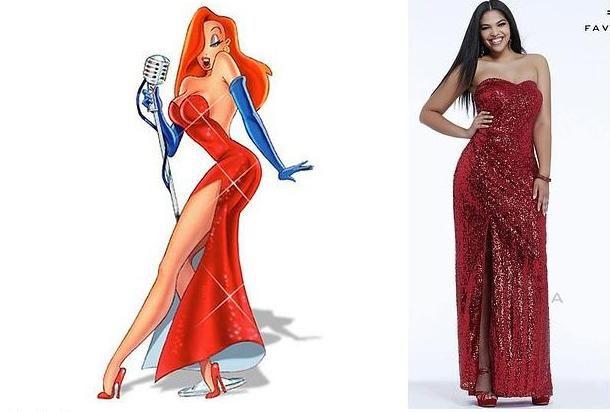 Jessica Rabbit inspired prom dress! | Dress red | Pinterest | Prom ...