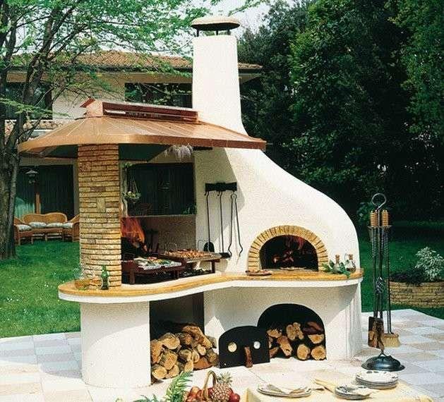 Barbecue in muratura barbecue professionale in muratura for Progetti di portico anteriore