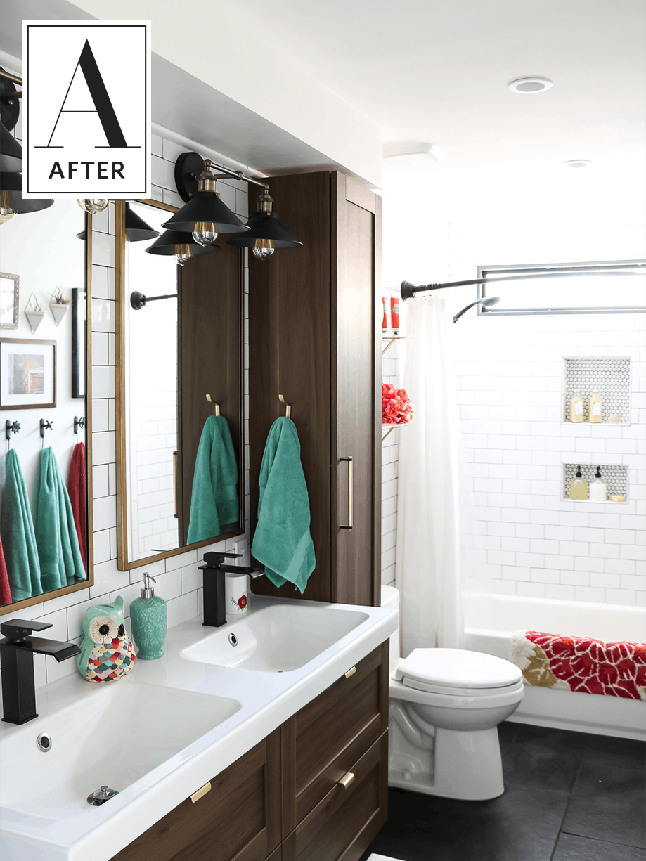 Before And After An S Bathroom Gets A Classic Update Attic - 80s bathroom remodel