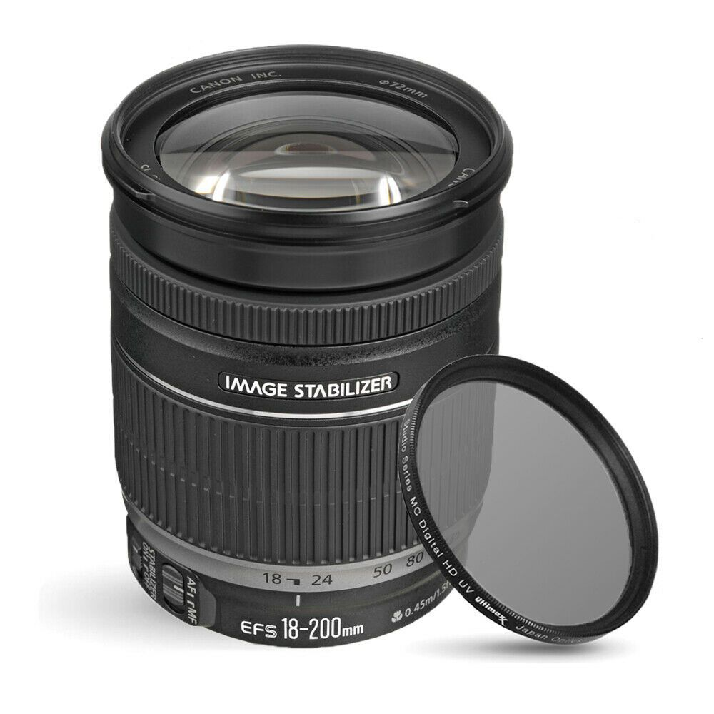 Canon Ef S 18 200mm F 3 5 5 6 Is Lens 2752b002 Uv Ultraviolet Filter Buying Camera Photography Gear Ultra Violet