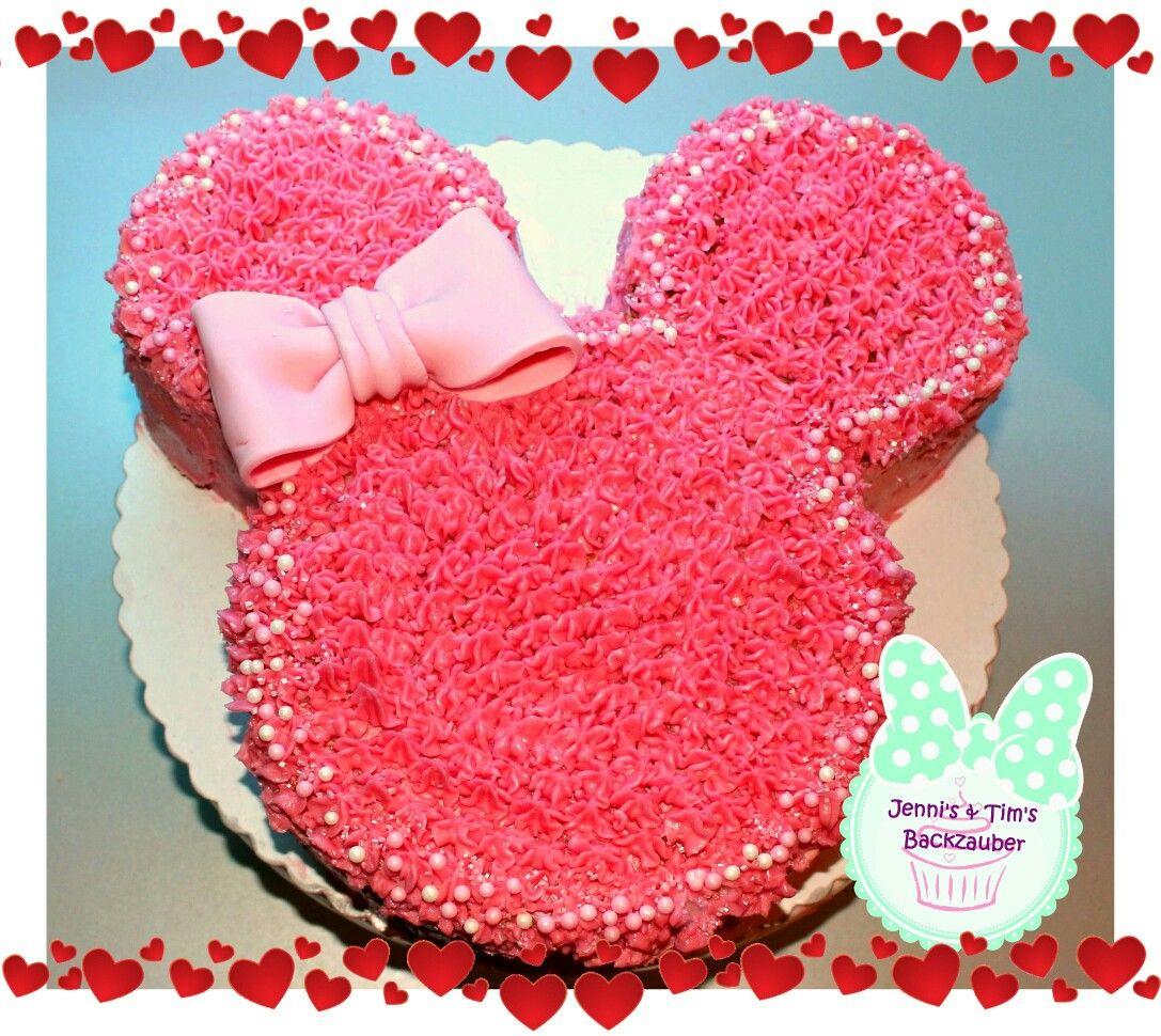 Minnie Maus Tupfentorte  Minnie mouse torten, Gepunktete torte