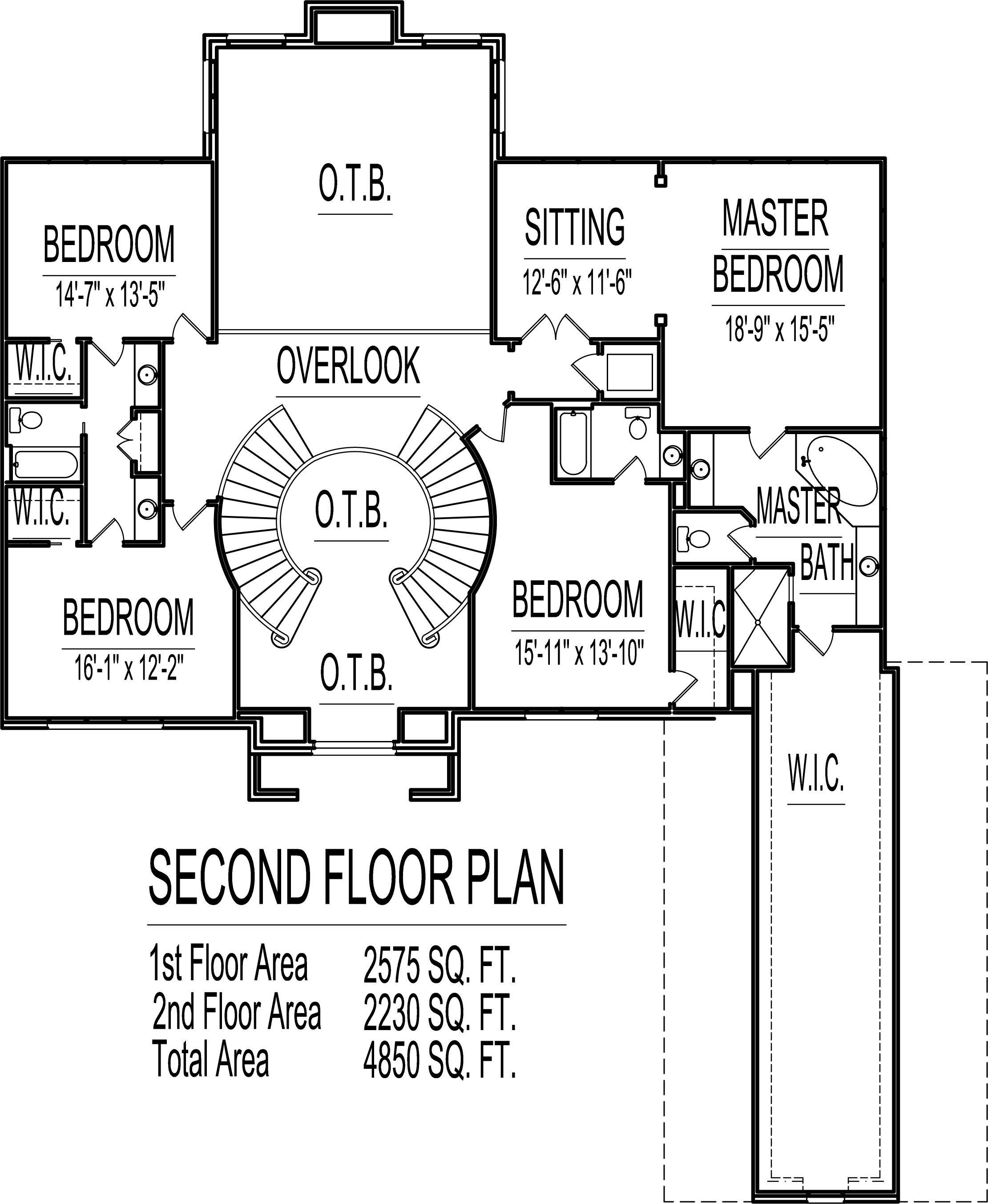 4 Bedroom 2 Story House Plans Sq Ft Atlanta Augusta