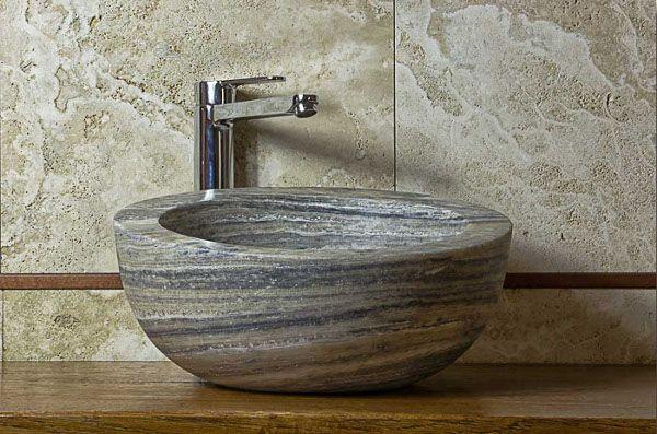 Palla Antico: lavabo da appoggio #pietredirapolano #travertino ...