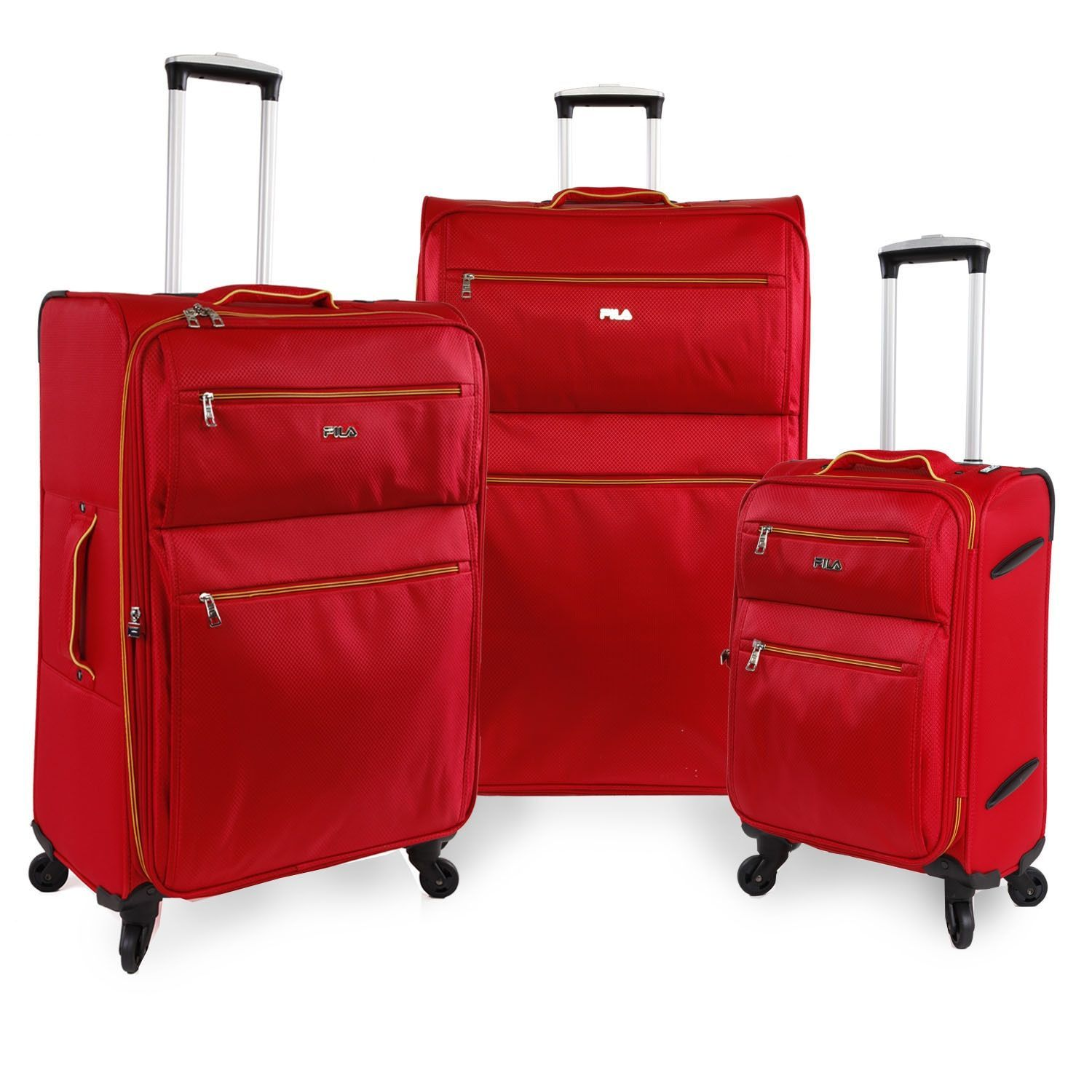 8fb6431c6fe0 Fila Shadow Lightweight 3-piece Expandable Spinner Luggage Set ...