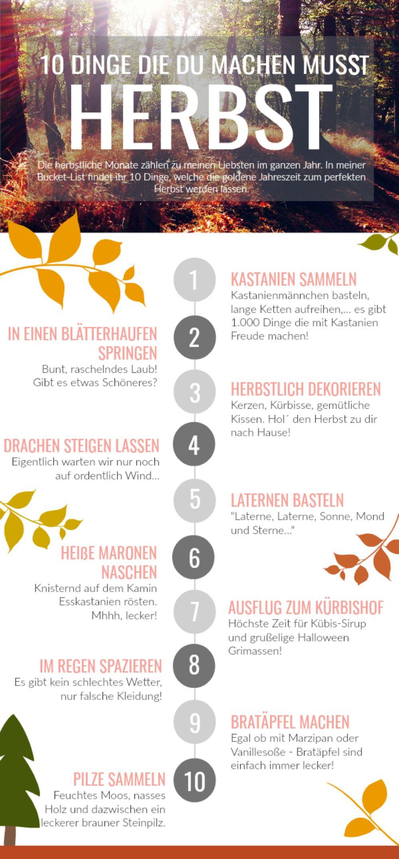 10 Dinge, die du zur goldenen Jahreszeit unbedingt machen musst! Unsere Herbst Bucket-List, egal ob mit oder ohne Kind, so genießen wir die schönste Monate. #Herbst #BucketList #Kastanien #ToDo #Autumn #HerbstmitKindern