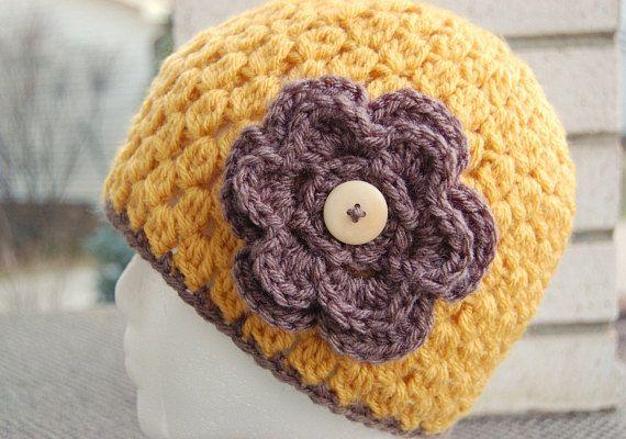 Crochet Hat Pattern Beanie Cloche With Flower Jenny