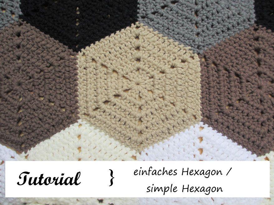 Sechseck häkeln / simple Hexagon - Häkeln macht glücklich // Crochet ...