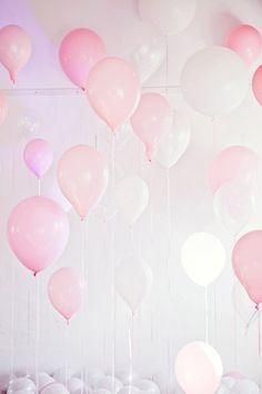 pink pastel party balloons