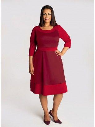 Evey Plus Size Colorblock Dress In Cranberry Clothes Pinterest