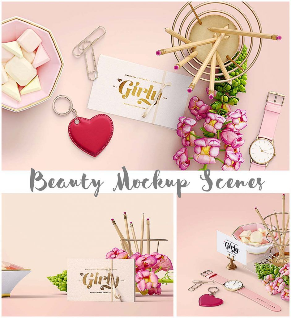Beauty mockup scenes Mockup, Photo stock images, Logo