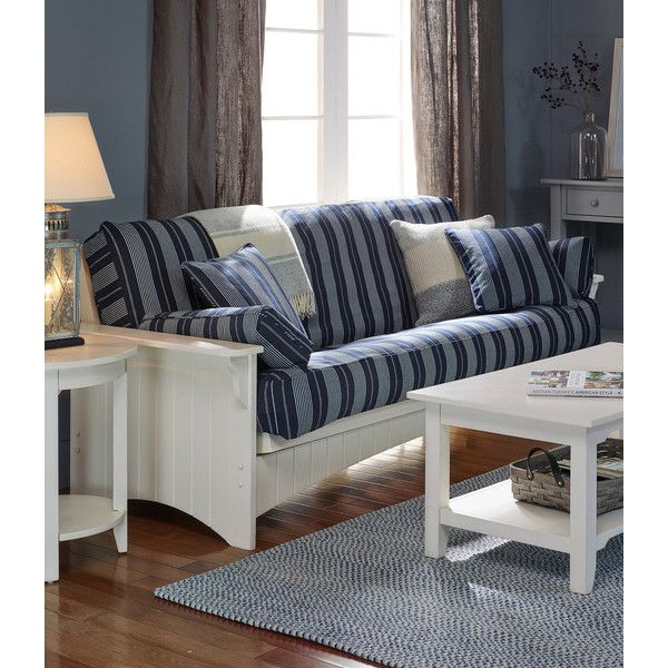 L.L.Bean Painted Cottage Futon featuring polyvore, home, furniture, sofas,  slip cover