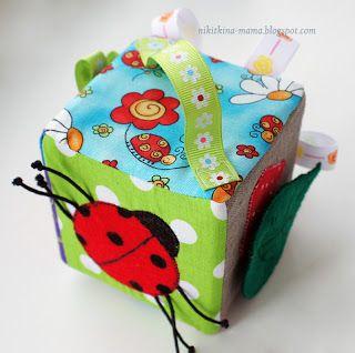 Небо цвета конфетти: Мастер класс:: Развивающий кубик