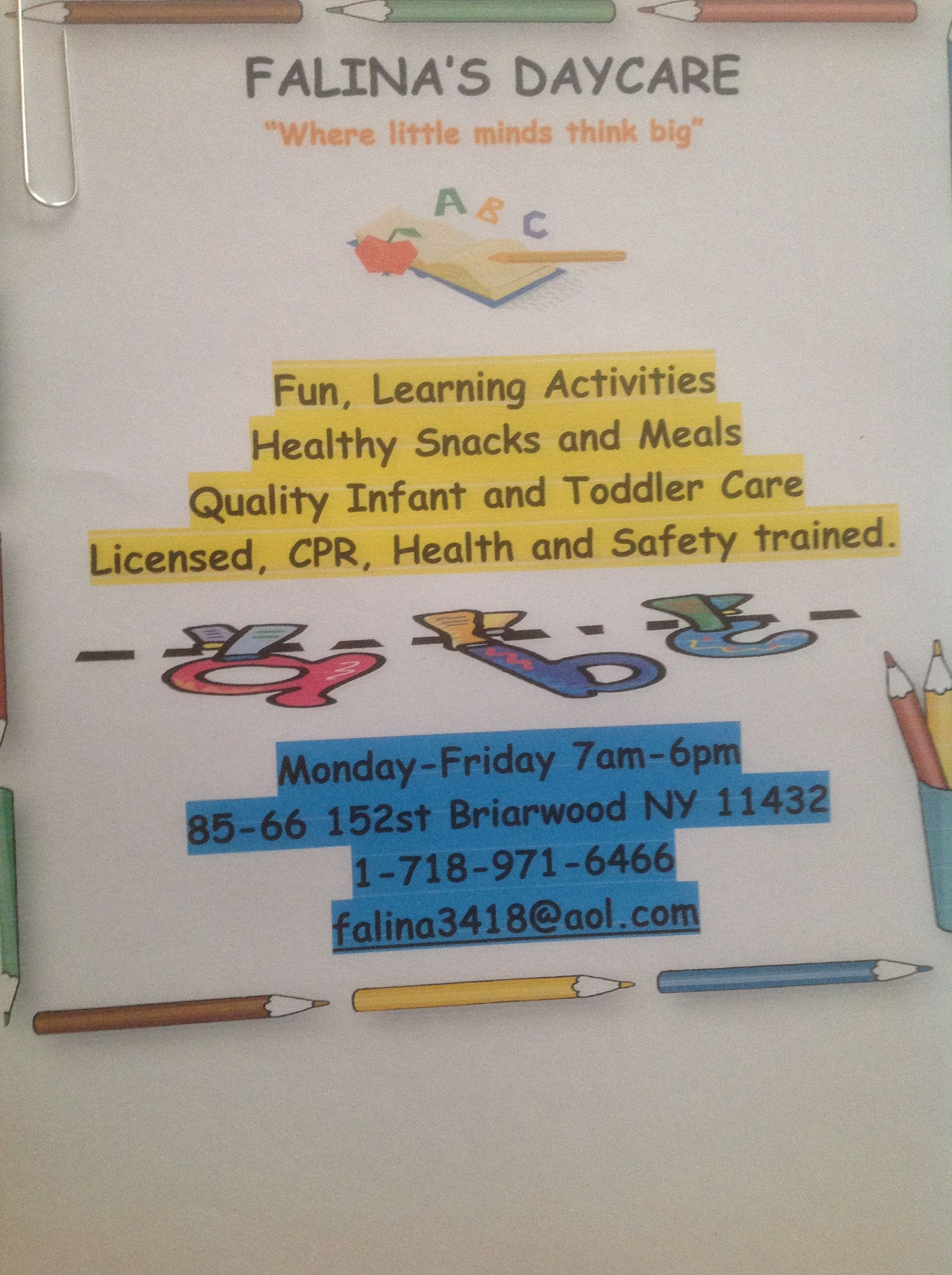 Best Day Care Ever Learning Activities Health And Safety Daycare