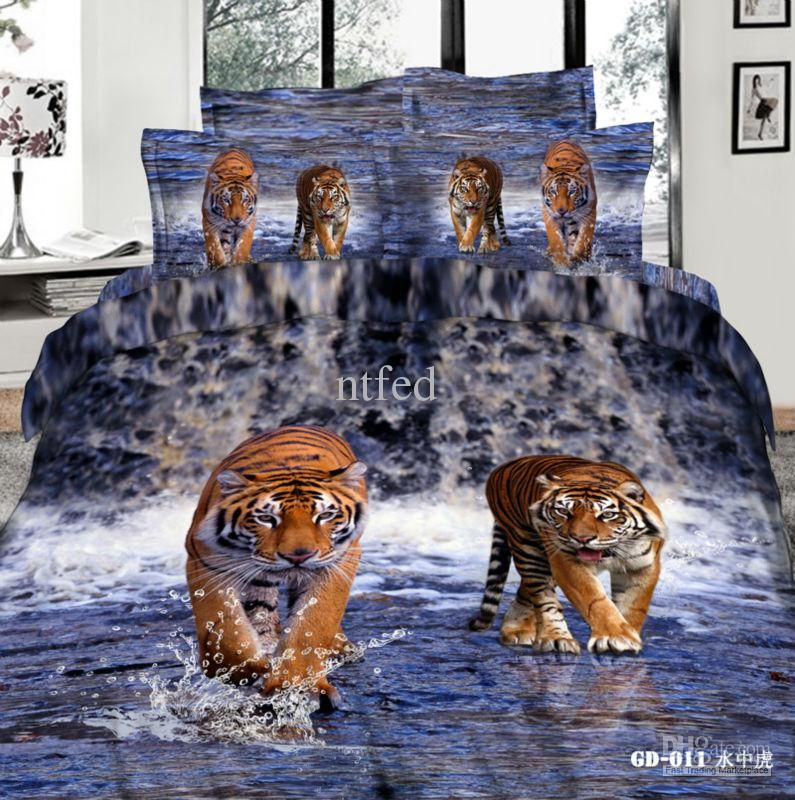 Wholesale Comforter Sets Buy 3d Tiger Printed Bedding Bright