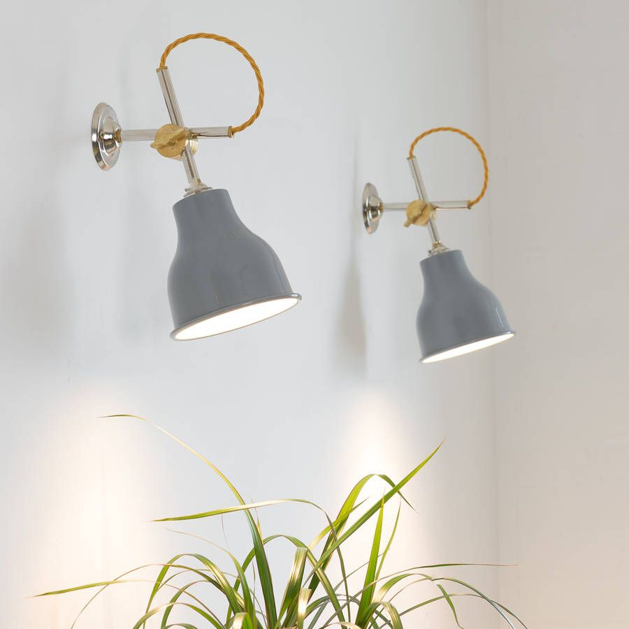 I've just found Factory Wall Light Mk3. A beautiful hand-spun aluminium, brass or copper shade. Combined with our MK3 wall bracket with brass knuckle and your colour choice of braided flex.. £75.00