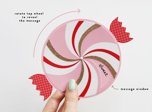 Paper Wheel Candy Greetings Paper Cards Card Templates Printable Papercraft Printable