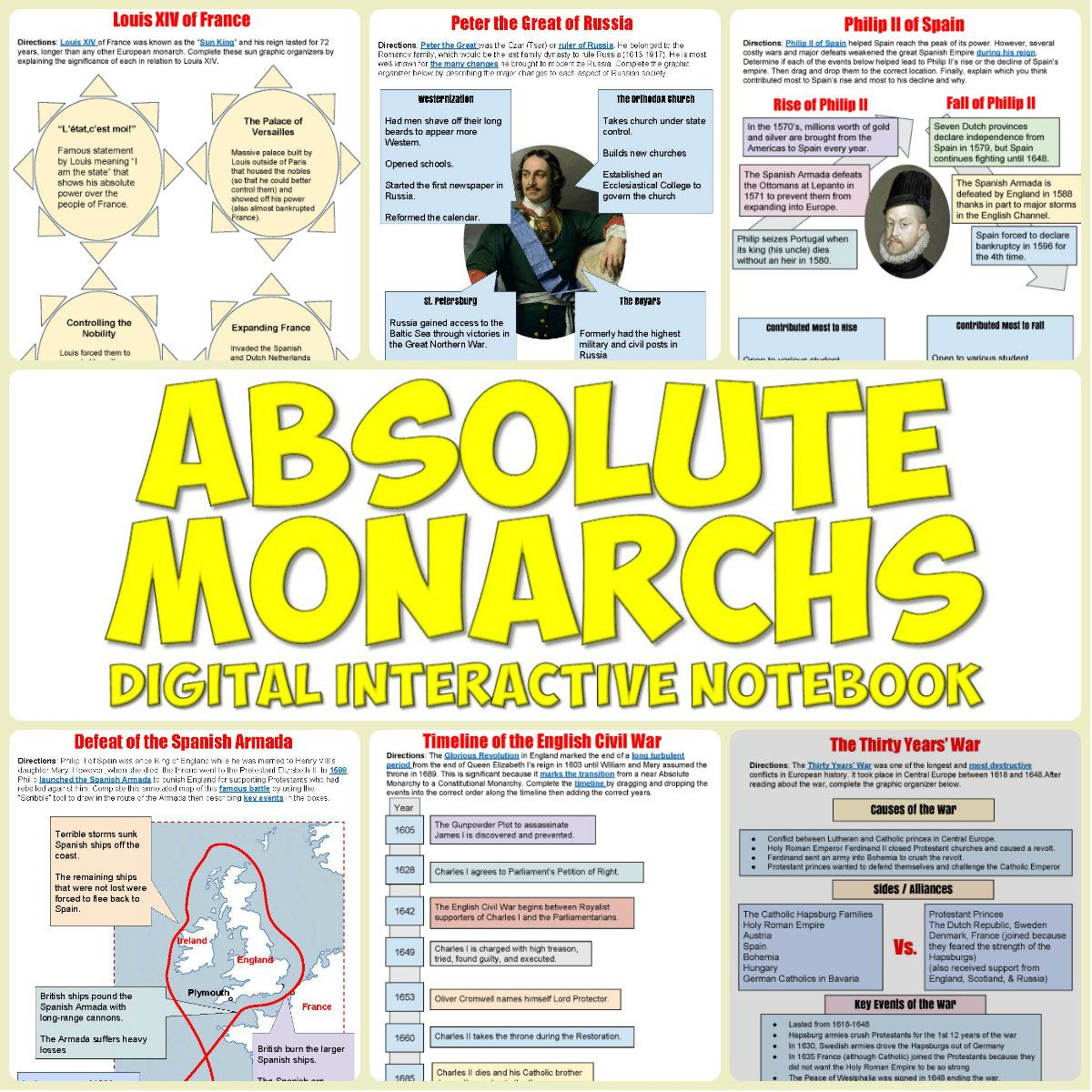 Absolute Monarchs Drive Interactive Notebook