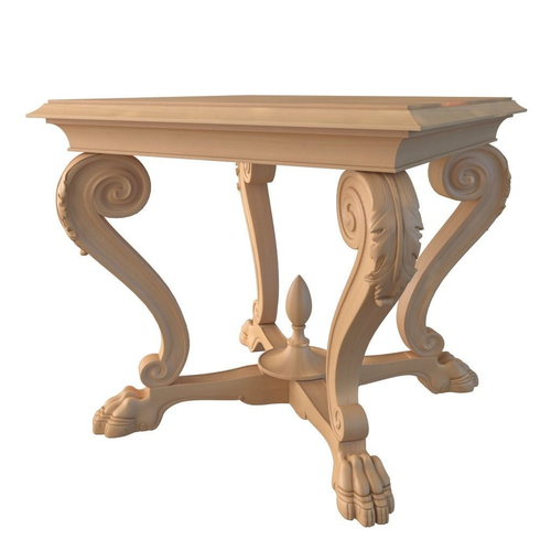 seven sedie i veneziani small table leone 3d model max obj fbx mtl 1