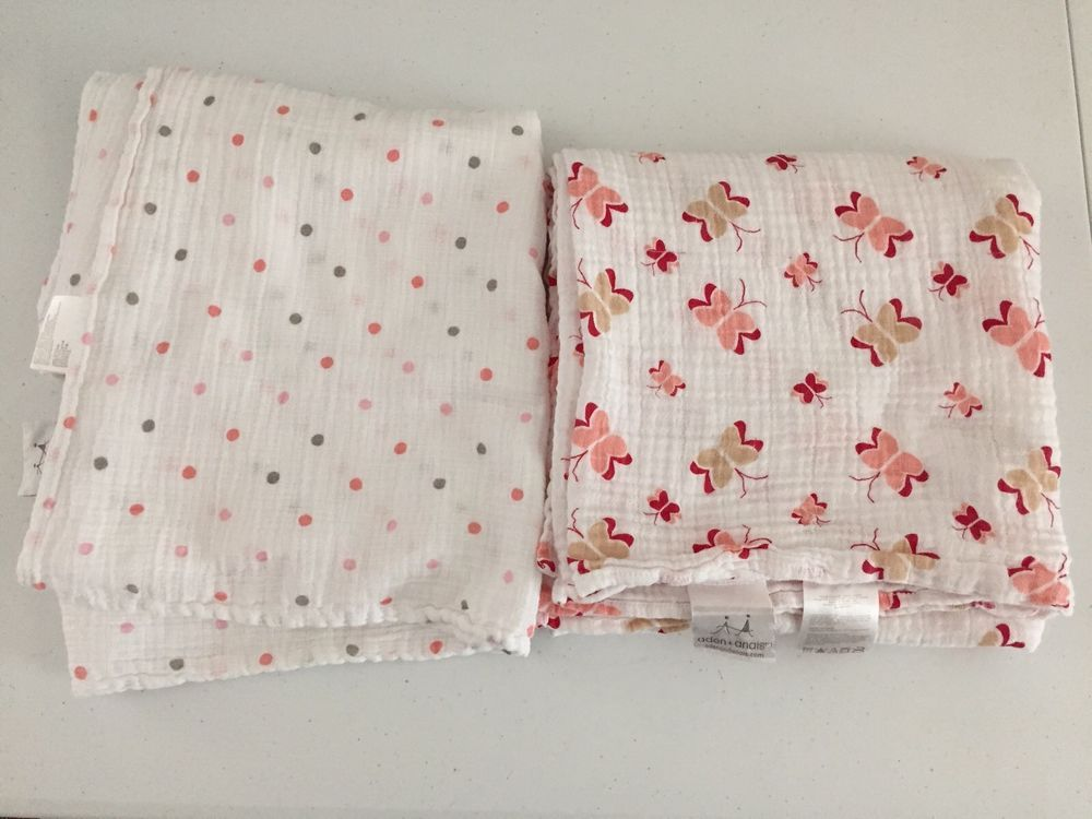 Aden And Anais Swaddle Blankets Captivating Aden Anais Muslin Swaddle Baby Blankets Girl Butterflies Polka Dot Decorating Inspiration