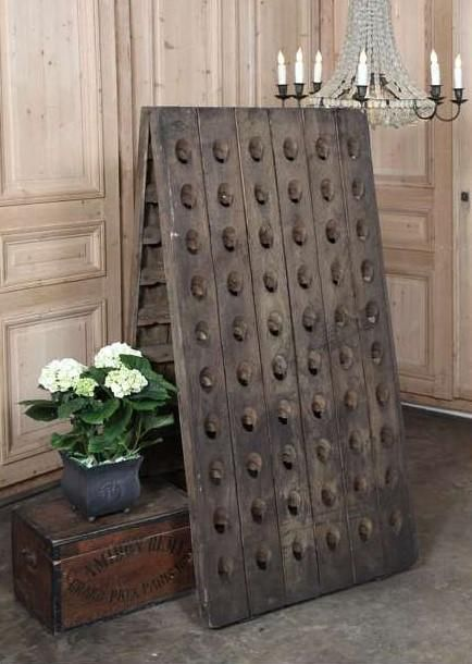 Photo of 120 Bottle Free Standing Oak Champagne Rack