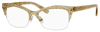 ed37e31bc6e Frames Direct  Kate Spade Lyssa Eyeglasses in Gold Glitter.  182.00 ...