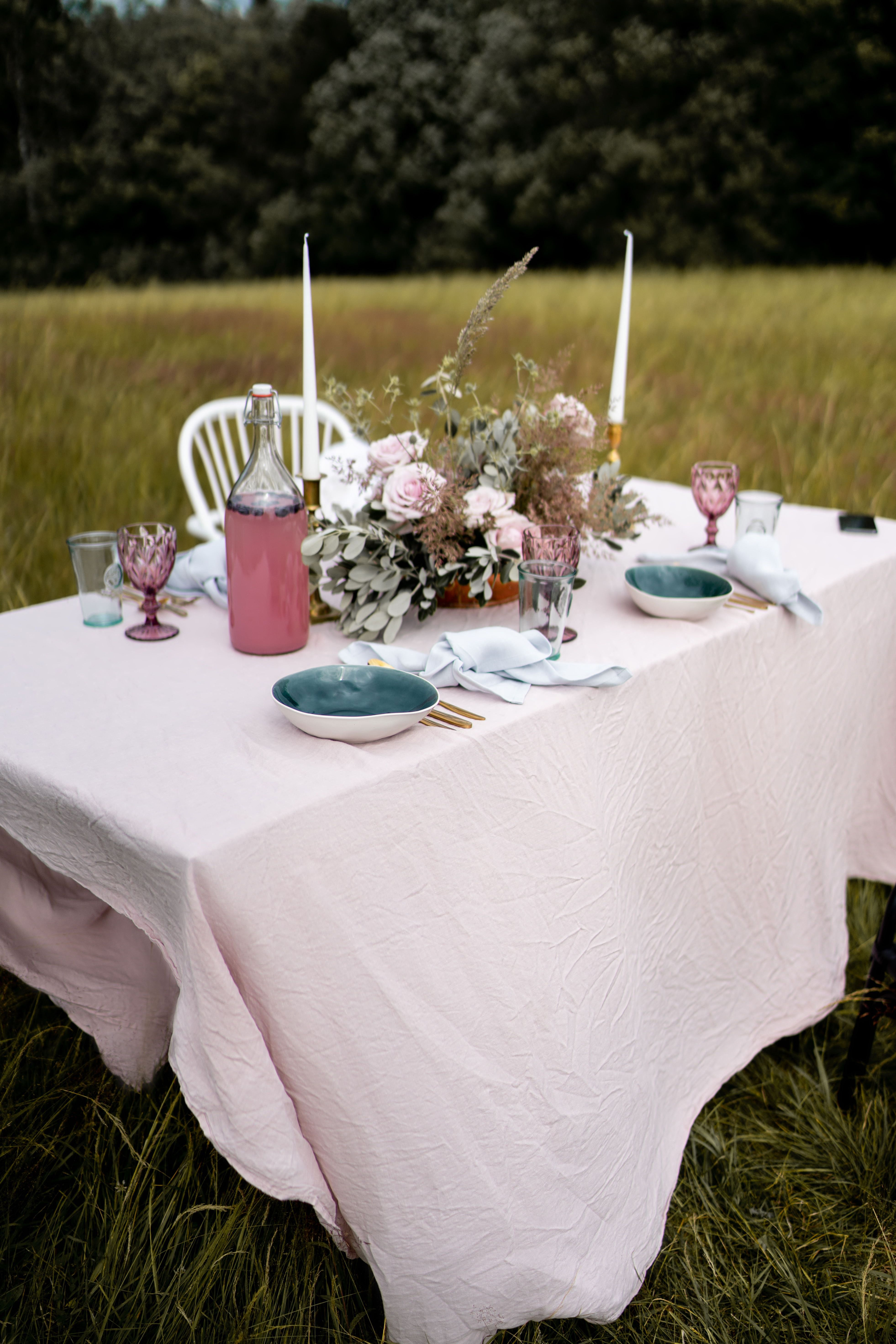 Pink Linen Tablecloth In 2020 Custom Table Cloth Round Linen Tablecloths Table Cloth