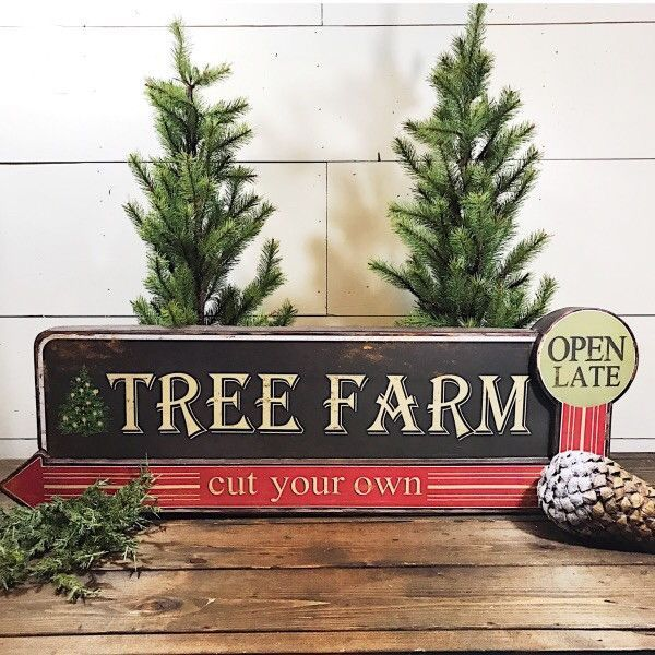 This Large Tree Farm Metal Sign Adds A Vintage Feel To Your