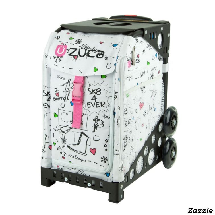 Zuca Sport Bag Gray Frame, Black Ice Queen with Gift Lunchbox and Seat Cover