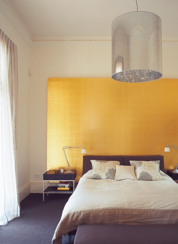 gold leaf wallpaper   holly gold art & wall glazes   Pinterest ...