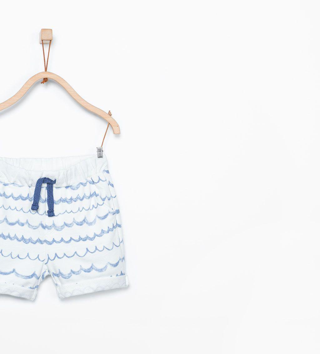 5ae88d5acaf ZARA - KIDS - Wave print Bermuda shorts   Vincent   Bermuda Shorts ...