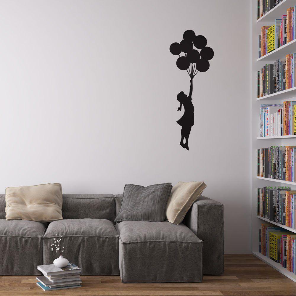 Banksy Balloon Girl Decal Vinile da Parete / Adesivi per la Casa ...