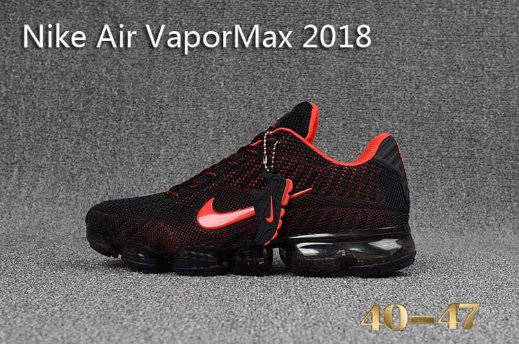 new styles 6066a e76dd Nike 2018 Nike air Vapor MAX 2018 KPU Running Men Black Red 40-47