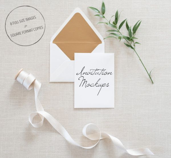 Floral Wedding Invitation Mockup | Invitations ...