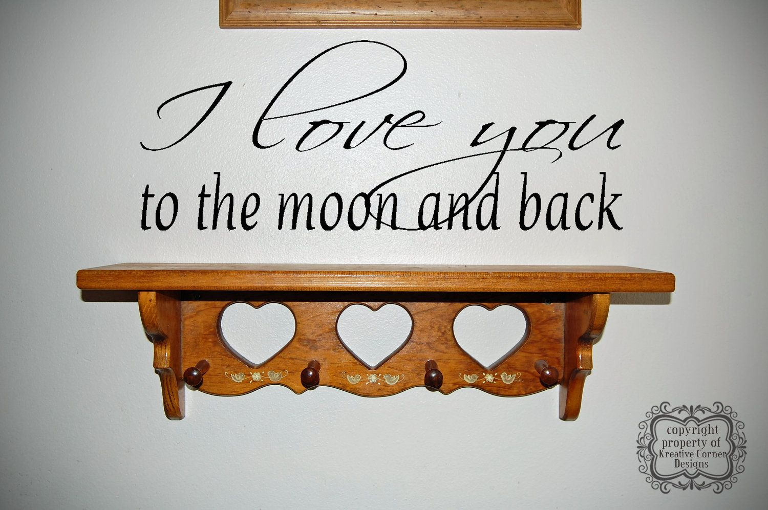 I Love You To The Moon And Back Vinyl Decal.... perfect for over our bed :)