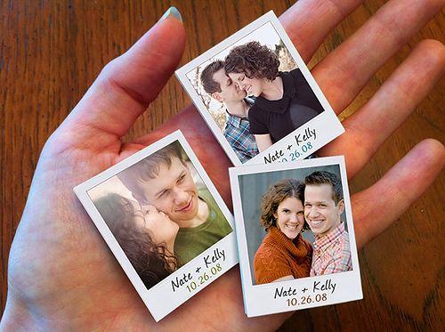 Personalised Garland Mini Magnets Wedding Card
