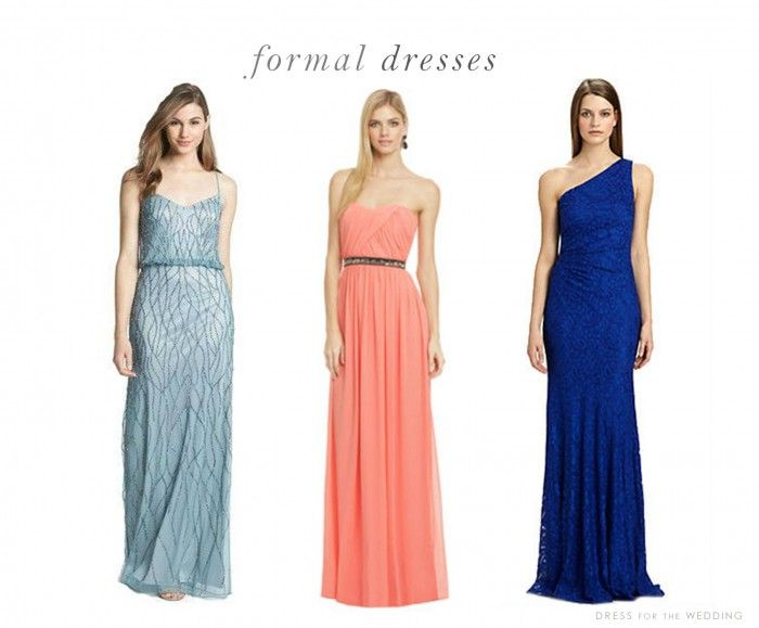 Dresses for Weddings | Colors, Formal dresses and Wedding