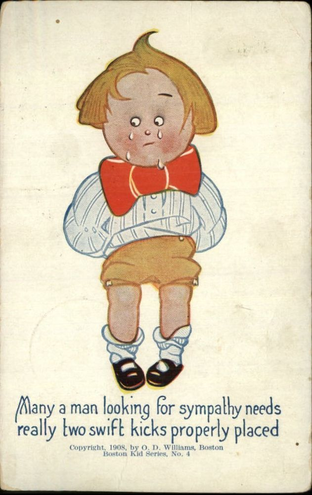 WILLIAMS BOSTON KID SERIES No. 4 Little Boy Crying c1910 Postcard