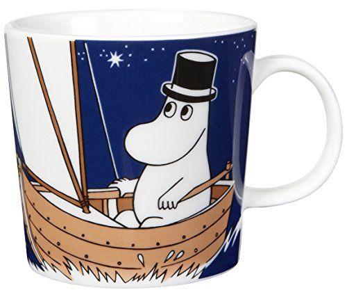 Arabia Finland Moomin mug - Moominpappa Deep Blue