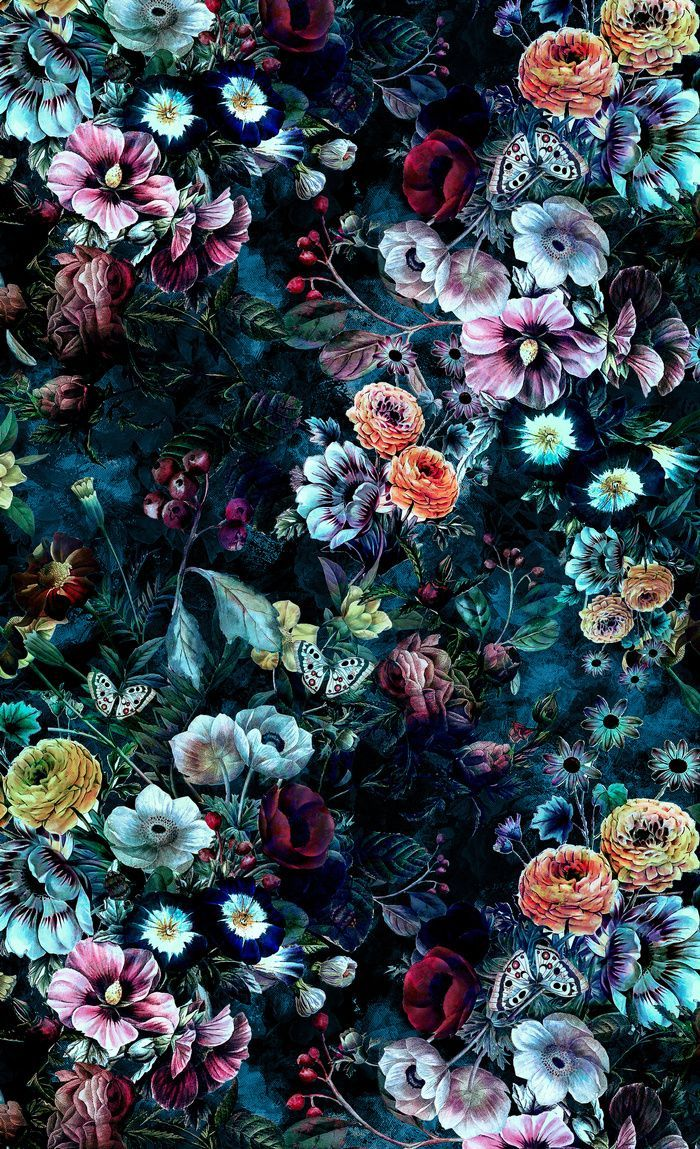 Night Garden Blackout Curtain by rizapeker
